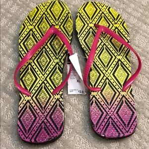 Shoes - Neon Flip Flops